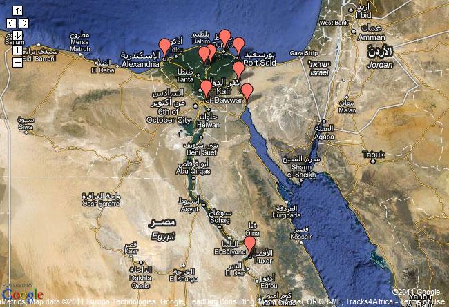 карта беспорядков